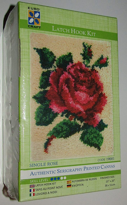 Needleart World Single Rose Latch Hook Kit