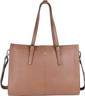 HAMMONDS FLYCATCHER Genuine Leather Satchel Women's Handbag, LB213BS (Burlywood)
