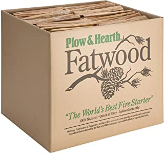 Fatwood 50 LB Box Fire Starter All Natural Organic Resin Rich Eco Friendly Kindling Sticks for Wood Stoves, Fireplaces, Ca...