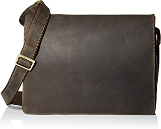Visconti Leather Distressed Messenger Bag Harvard Collection