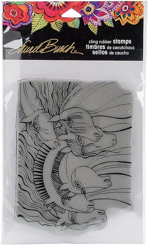Stampendous Laurel Burch Cling Stamp, Wild Horses