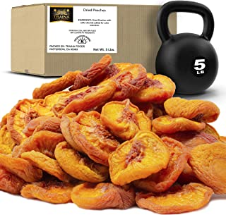 Traina Home Grown California Extra Fancy Dried Peaches - No Sugar Added, Non GMO, Gluten Free, Vegan, Value Size (5 lbs)