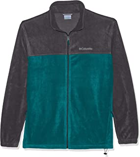 Men's Steens Mountain Full Zip 2.0 Soft Fleece Jacket, Glacier Green, Graphite, 2XT
