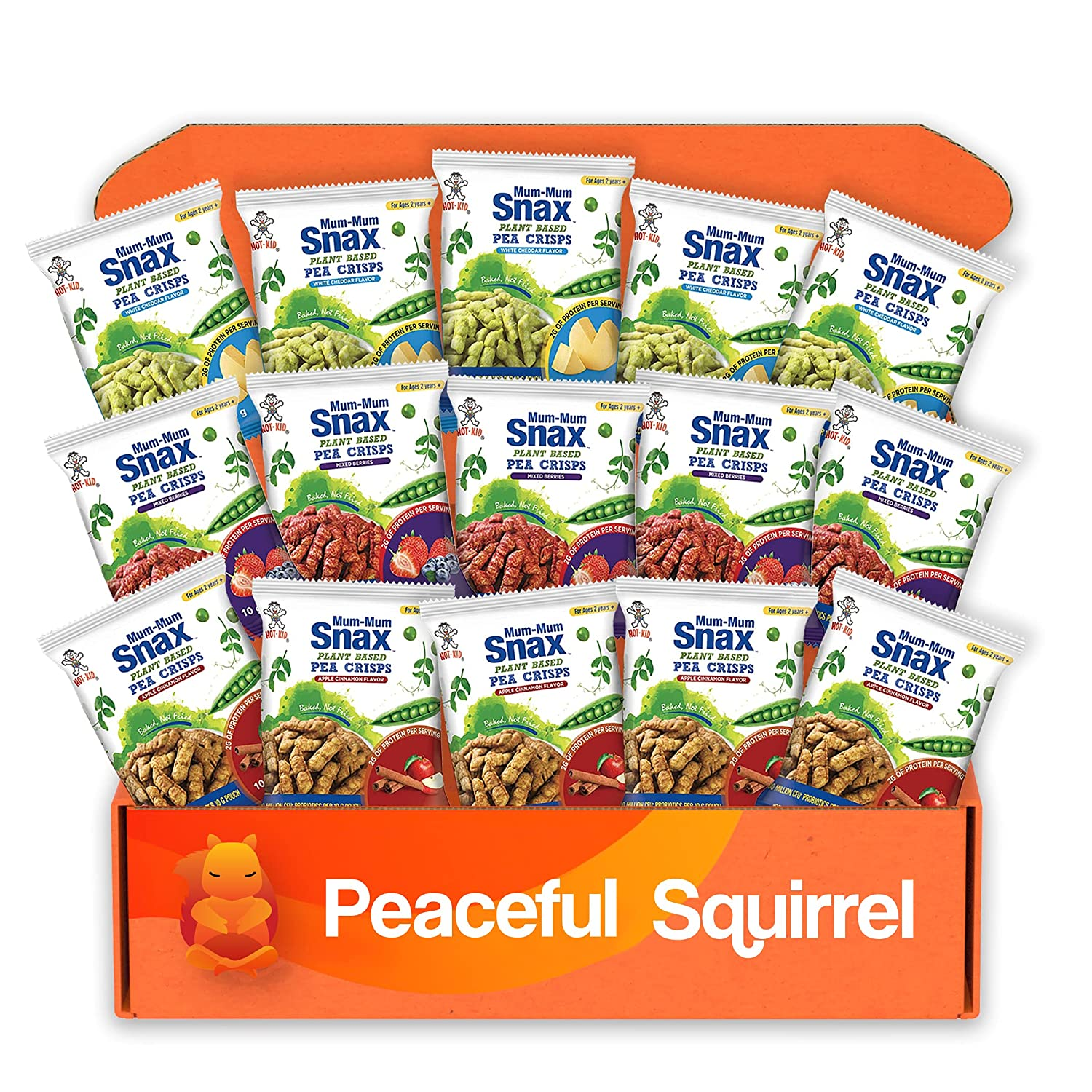 Our shop OFFers the best service Peaceful Squirrel Variety  Mum-Mum Ba Crisps Finally resale start Plant Snax Pea