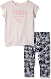 PUMA Baby Girls 2 Piece Tee and Capri