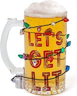 BigMouth Inc Let's Get Lit LED Holiday Beer Mug