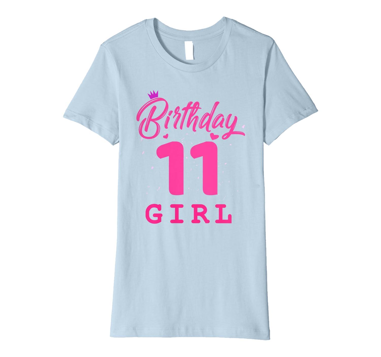 Amazon.com: Feliz cumpleaños camisa, niñas 11th fiesta 11 ...