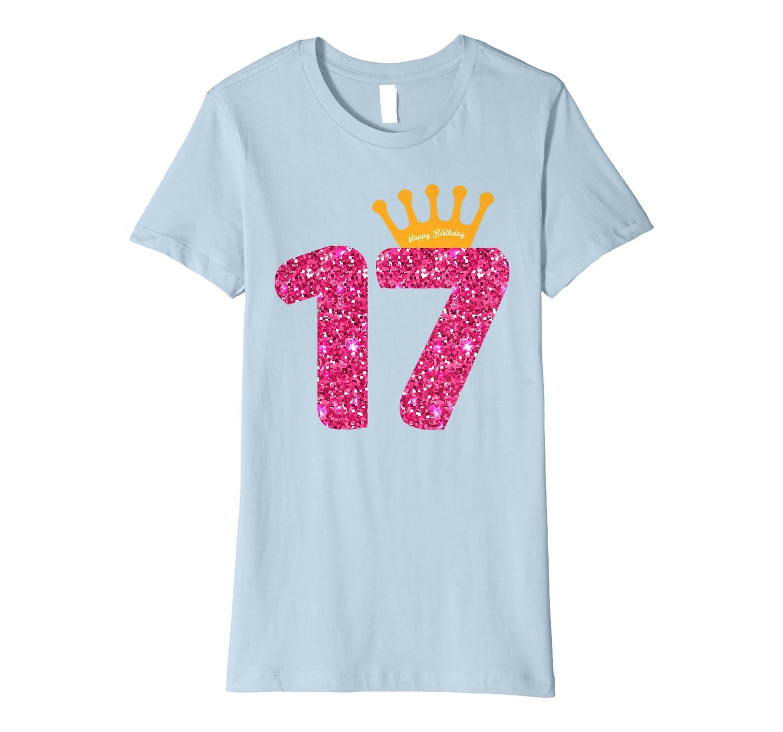 Amazon.com: Feliz cumpleaños camisa, niñas siglo fiesta 17 ...