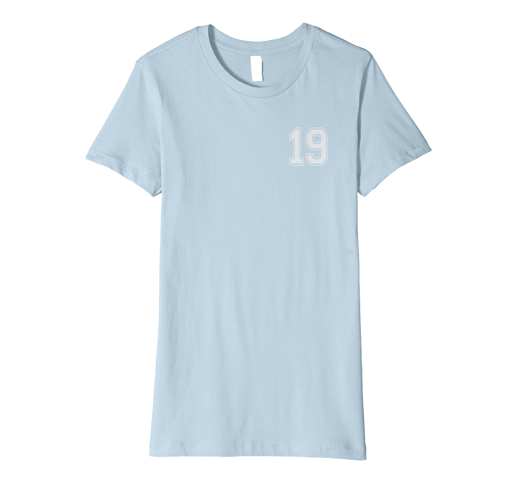 Amazon 19 Numbered Team Jerseys Shirt Birthday Age Year Number Clothing