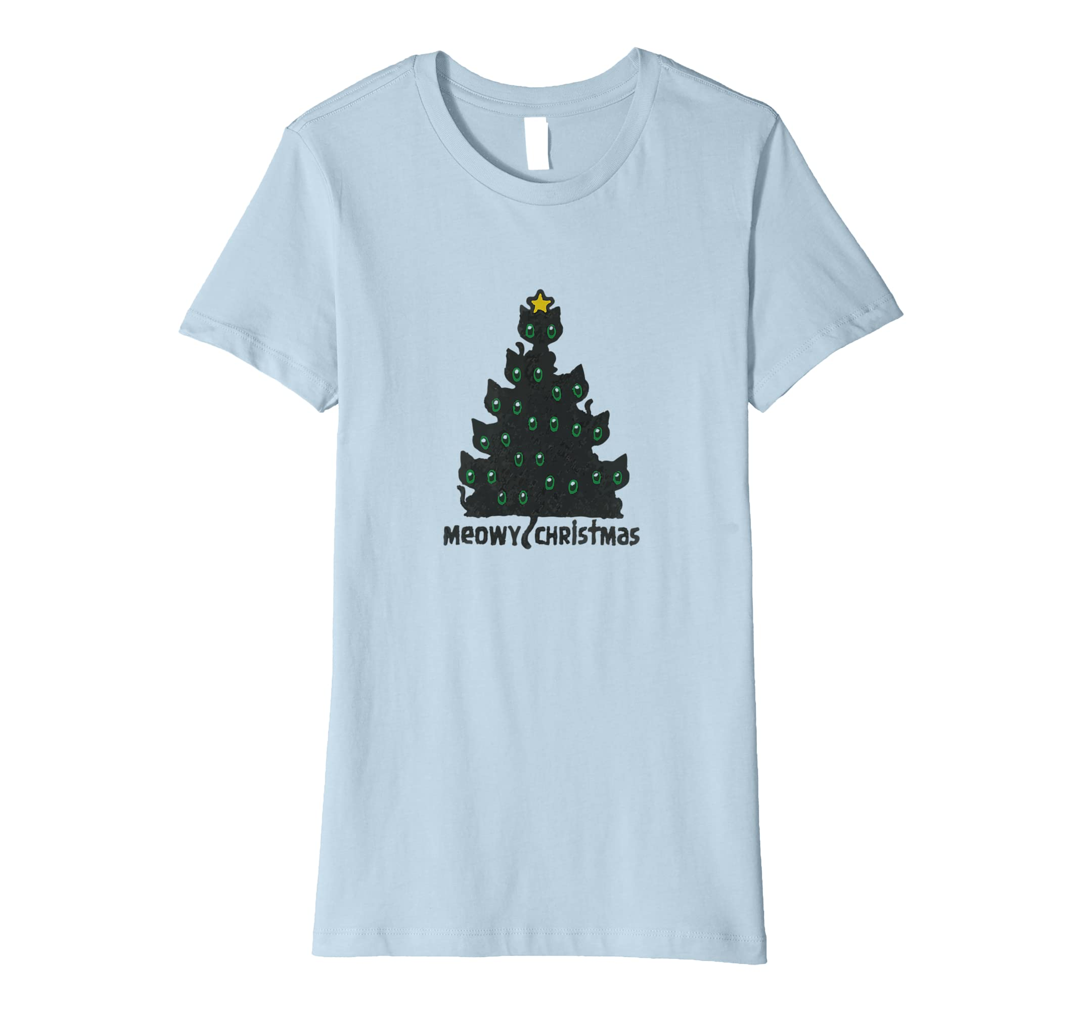 f570c86b3 Meowy Christmas Cat Tree T-Shirt Cute Kittens at Amazon Men's Clothing  store: