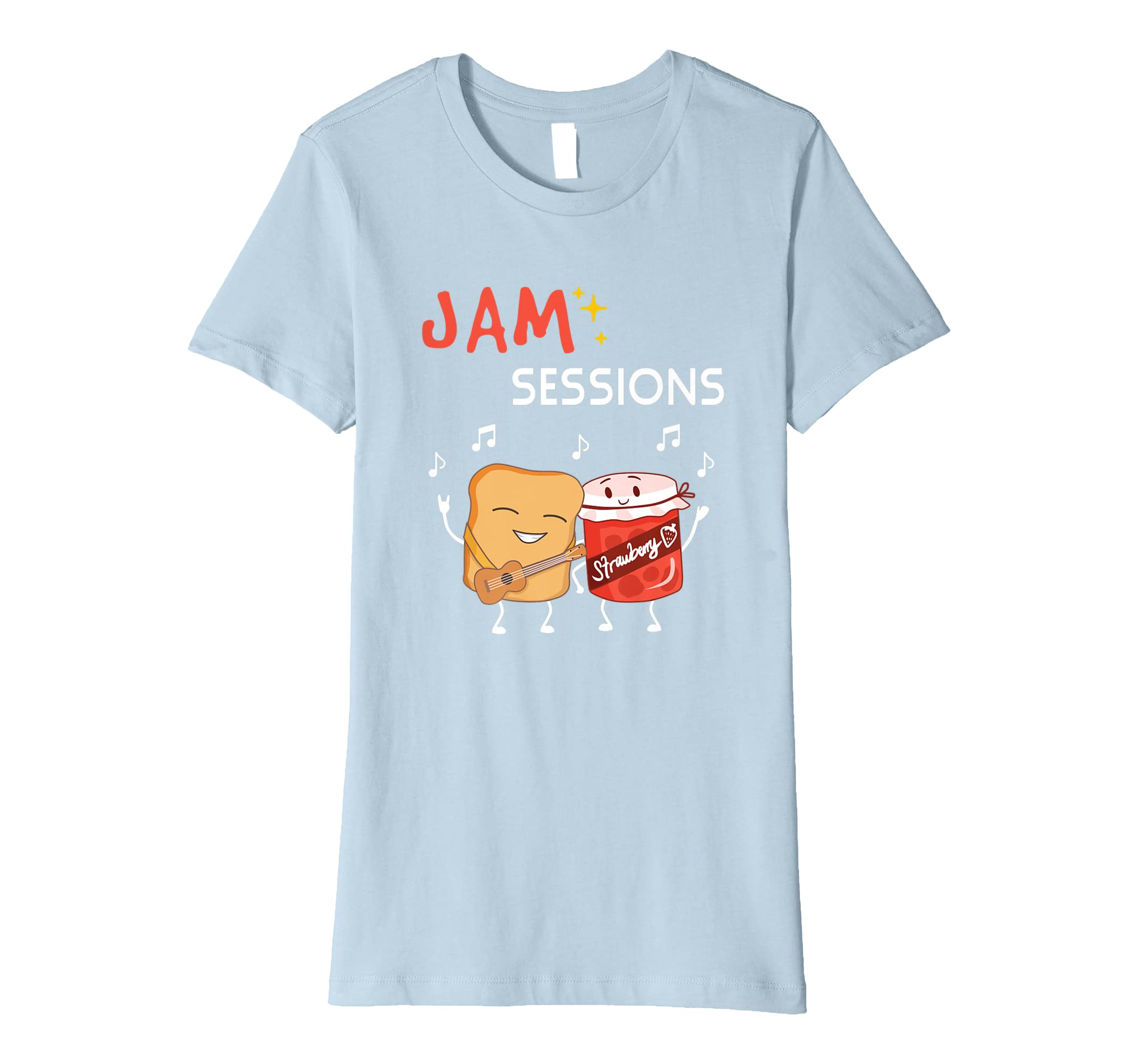 68d235db Amazon.com: Jam Session Funny Peanut Butter Jelly Music Cute Pun T Shirt:  Clothing