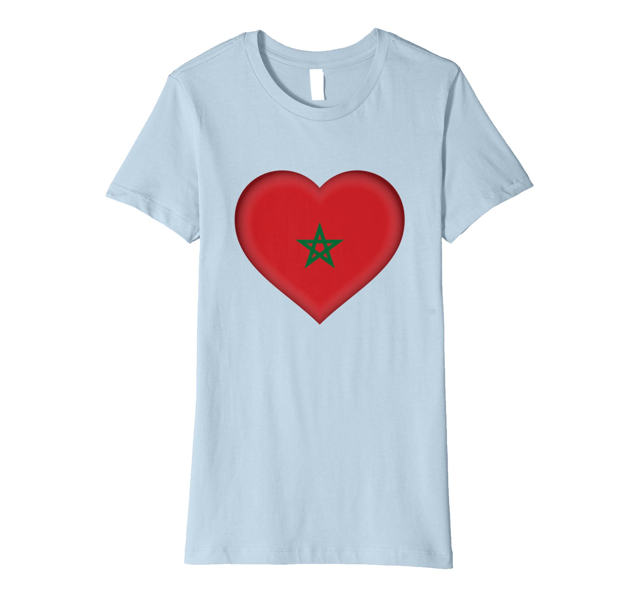 f2372362f13 Amazon.com  I Love Morocco T-Shirt