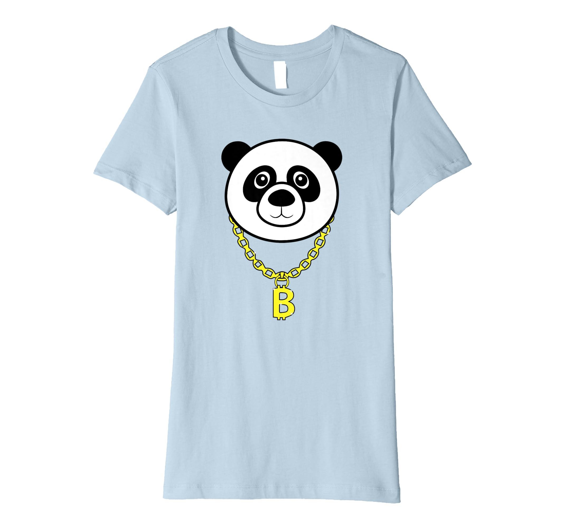 e5426b958 Amazon.com: Gangster Panda Golden Chain Shirt   Cool Bear Cat Funny Gift:  Clothing
