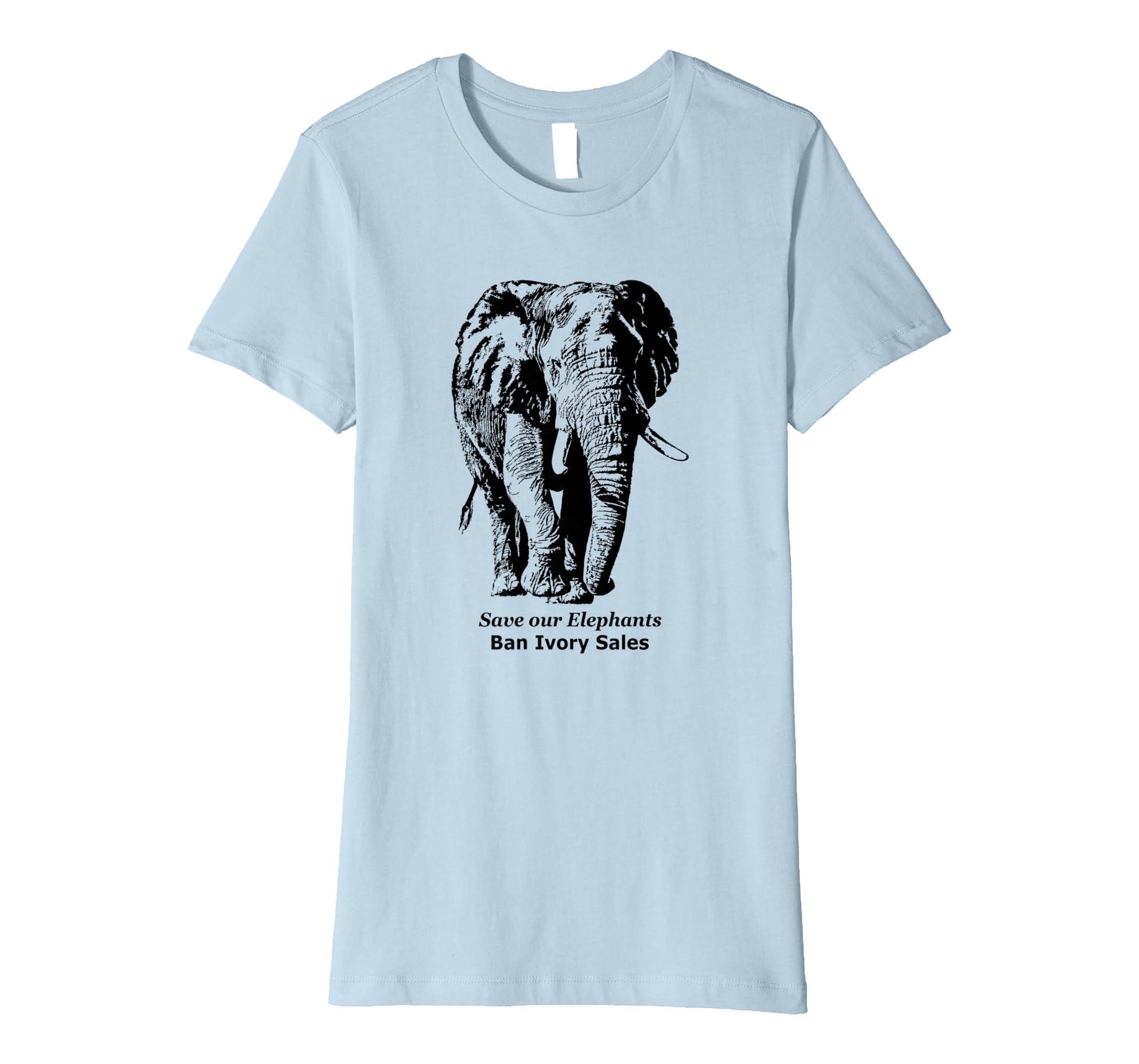 e3be8b88bab0e2 Amazon.com  African Elephant T-shirt  Save Elephants