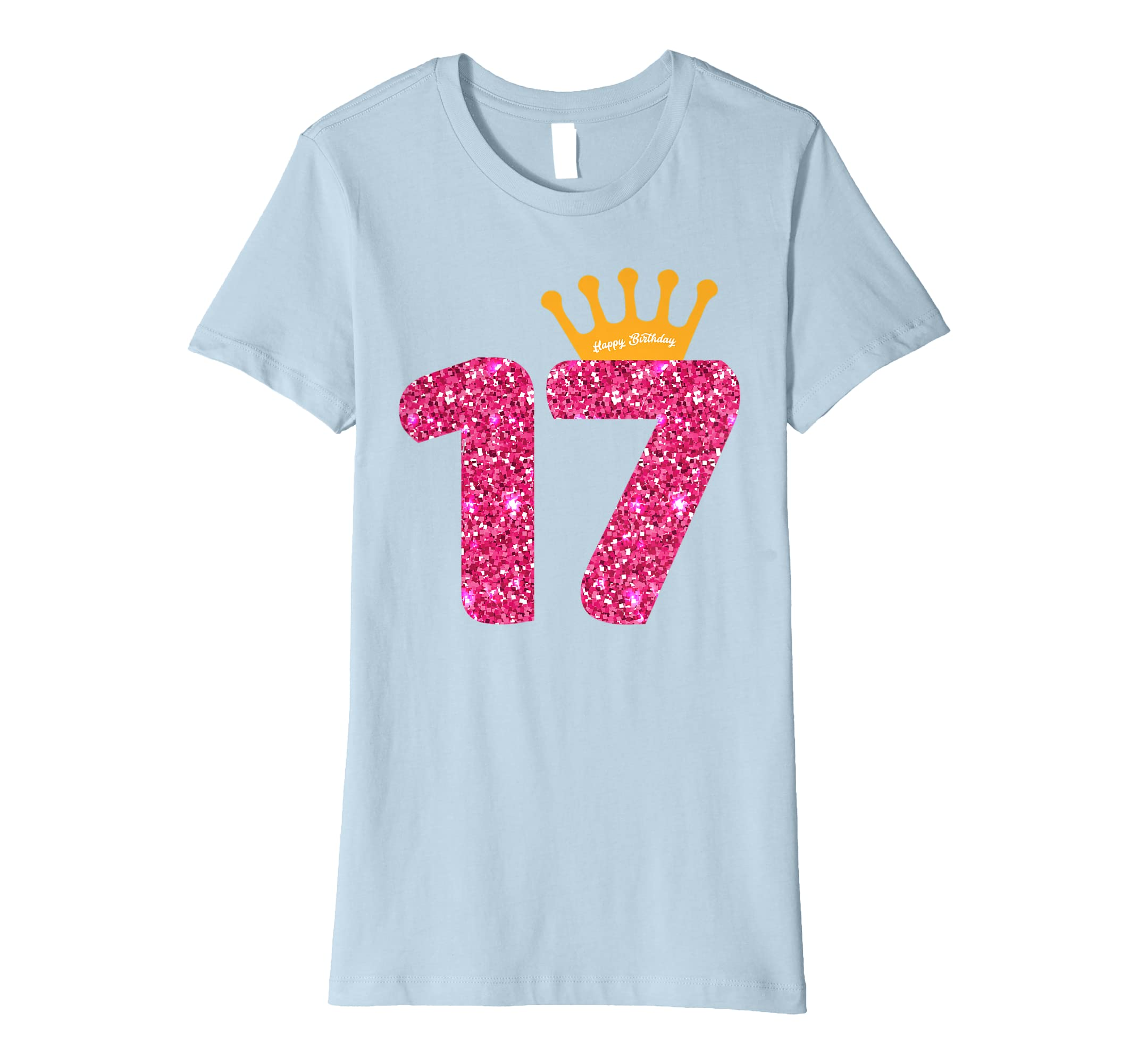 Amazon Happy Birthday Shirt Girls 17th Party 17 Years Old Bday Clothing