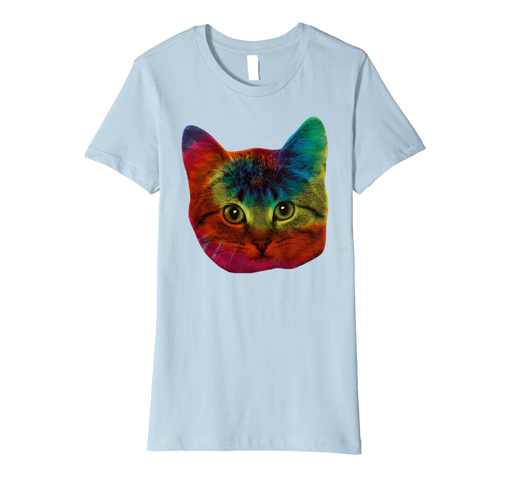 43ded6e8 Amazon.com: Tie Dye Cat Shirt | Colorful Tye Dye Kitten T-Shirt: Clothing