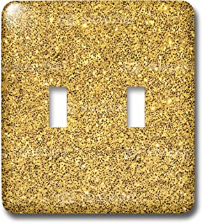 3dRose lsp_221595_2 Print of Gold Sparkles Glitter Double Toggle Switch