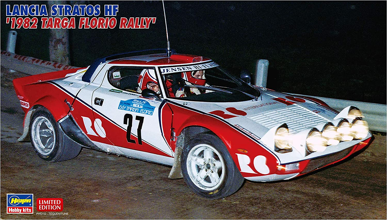 1982 Lancia Stratos HF Targa Florio Rally 1 24 scale Limited Edition model kit by Hasegawa Hobby Kits.