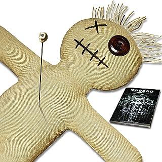 Muñeco de vudú con aguja de vudú e instrucciones de