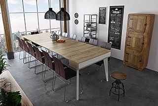 Home Innovation - Table Console de Salle à Manger et Séjour rectangulaire avec rallonges, Extensible Nordic K jusqu' à 300...