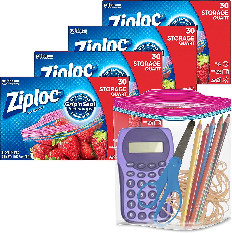 Lowest price challenge Ziploc Quart Food Storage Bags Grip Easi Popular popular 'n Seal Technology for