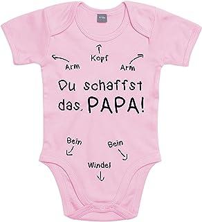 Shirtoo Baby Body Geschenk zur Geburt: Papa Du Schaffst Das