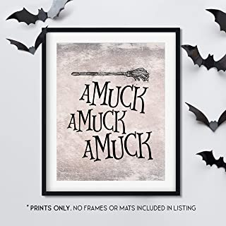 Amuck Amuck Amuck - Unframed 11x14 Inch Art Print - Hocus Pocus Halloween Decorations
