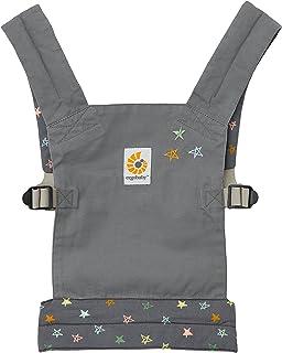 Ergobaby Dockbärväska barnleksak, bärväska för babydocka, docka bärväska i 100 % bomull, docka bärare chalkboard