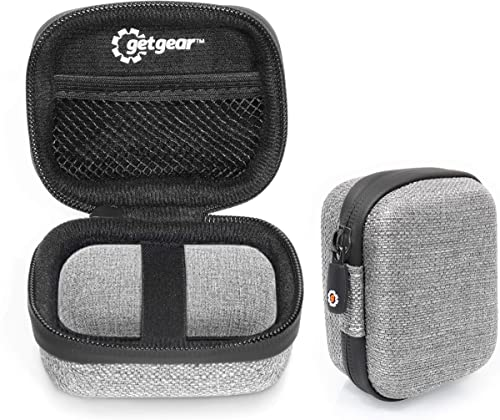 popular Tweed Gray Earbuds case Compatible with Momentum True Wireless Bluetooth Earbuds, Customized case with Matching Surface, mesh online Pocket for USB Cable, Detachable lowest Wrist Strap outlet sale