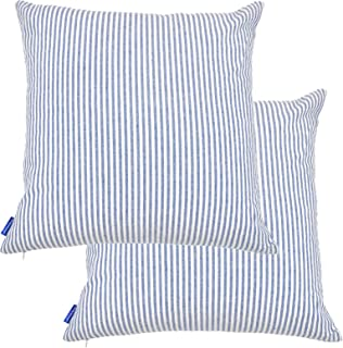 Best blue and white striped pillow covers Reviews
