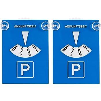 takestop/® Lot de 2/disques de stationnement et porte-vignette dassurance avec adh/ésif pour pare-brise PVC Voiture Stationnement