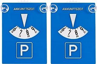 DIYexpert Set van 2 parkeerschijven van kunststof met zuignappen.