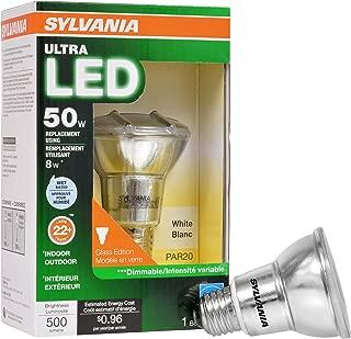 SYLVANIA General Lighting 74055 Sylvania Dimmable Led Bulb, 8 W, 120 V, Par20, Medium Aluminum, 25000 Hr