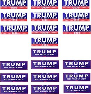 tibijoy 20 Pcs Trump 2020 Keep America Great Car Stickers,Truck Bumper Stickers,Donald for Presidential Election Stickers,9 X 3 inch