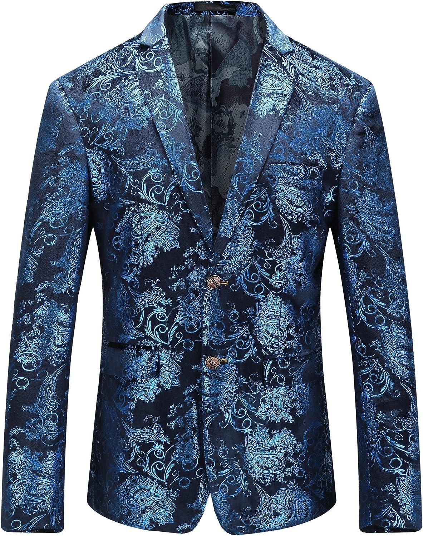 MOGU Royal Blue Blazer Men