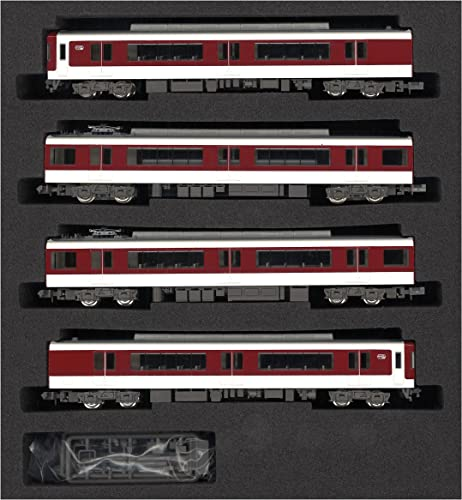 Kintetsu Series 5200 Four Car Formation Set (with Motor) (4-Car Set) (Model Train)