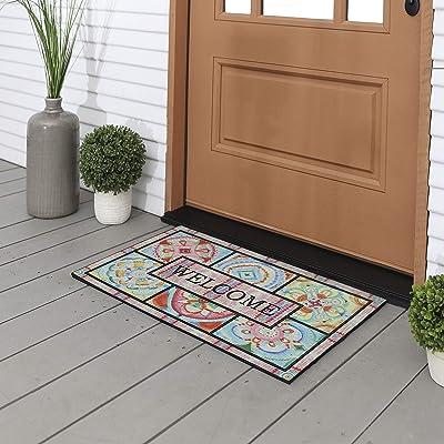 Mohawk Home 4594 18576 018030 EC Chic Medallion Sketch Doormat, Pink
