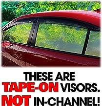 C&C Car Worx Tape-On Outside-Mount WV-12WRX-TF Set of 4 Side Window Visor Rain Guard Deflectors to fit Subaru Impreza WRX & STI, Sedan Models ONLY, 2015-2016-2017-2018-2019