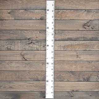 Growth Chart Art Schoolhouse Wooden Ruler Growth Chart for Kids, Boys & Girls (White)