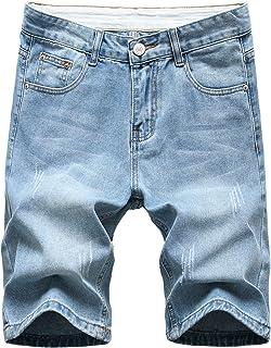 NITAGUT Men's Fashion Ripped Regular Fit Short Jeans Casual Denim Shorts