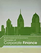 Student Supplement to Accompany Principles of Corporate Finance