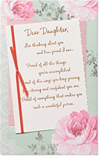 American Greetings Birthday Card for Daughter (Pink Floral)