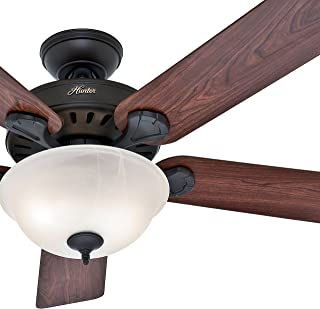 Hunter Fan 52 inch Traditional New Bronze Indoor Ceiling Fan with Bowl Light Kit (Renewed)