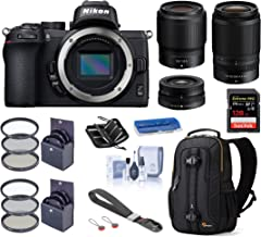 $1754 » Nikon Z 50 DX-Format Mirrorless Camera Body with 16-50mm, 50-250mm and 50mm f/1.8 S VR Lens, Deluxe Bundle with Backpack, 128GB SD Card, Filter Kits, Wrist Strap and Accessories
