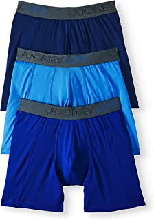 Jockey Life 3-Pack Men's Fresh Microfiber Stretch Assorted Boxer Briefs - Long Leg