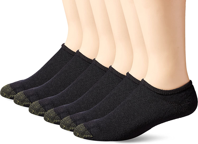 Gold Toe Men's Cotton No Show Socks, 6+2 Bonus Pack