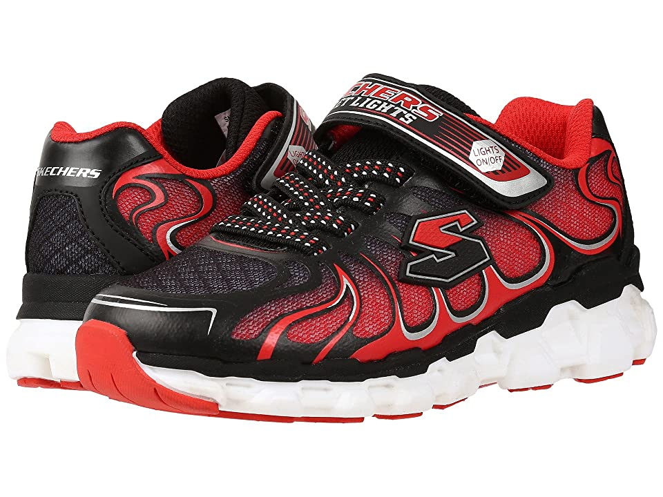 SKECHERS KIDS Skech Rayz 90570L Lights (Little Kid) (Black/Red) Boys Shoes