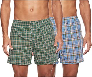 Hanes Mens 2-pack Inside Exposed Waistband Woven Boxers 2-pack Inside Exposed Waistband Woven Boxers (pack of 2)