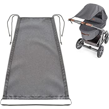 OLOBABY Grey Blue Pushchair and Buggy Stroller Sun Sail with UV Protection 50 Universal Baby Sunshade for Pram