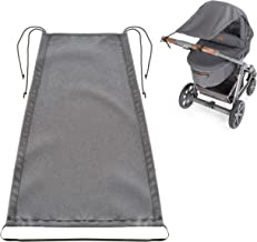 Zamboo Toldo DELUXE / Protección solar universal para cochecitos, capazos y sillas de paseo - Parasol ajustable con protección UV 50+ - Gris